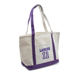 Natural/Purple Laurier/11 Tote