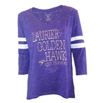 Purple 3/4sl Glitter Tee