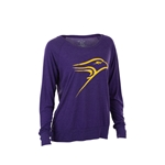 Purple Meshy l/sl Raglan