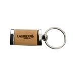 Laurier silver/bamboo Key Tag