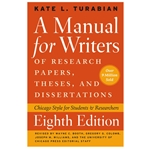MANUAL FOR WRITERS OF RESEARCH PAPERS THESES AND DISSERTATIONS 8TH