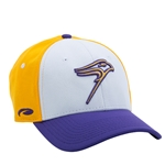 White/purple and Gold Performance Mesh Hat