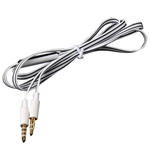 "39"" WHITE AUX FLAT NOODLE 3.5 MM CABLE M/M"