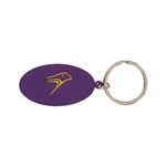 Purple Oval Hawk Key Tag