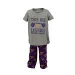 Kids Gry/Purp PJ Set