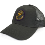 Dark Grey trucker Hat Circle Design