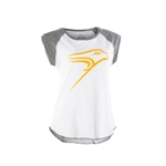 Wht/gry Ladies Raglan Muscle Tee