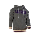 Laurier Marled Grey/purple Banded Hood