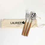 Stainless/Wood Cutlery Set