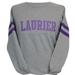 Ladies Grey Crew Purp Laurier