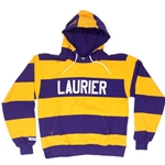 "4"" Stripe Rugby Hoodie with Pouch"