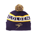 Purple/gold Golden Hawk Toque