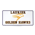 White Laurier License plate