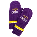 Purple Knit Mitten with Athletic Logo