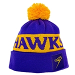 Purple and Gold HAWKS Toque