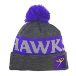 Purple and Charcoal HAWKS Toque