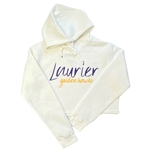 Cropped Laurier Golden Hawks White Hood
