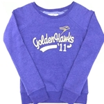 Final Sale Ladies Purple Script Crew