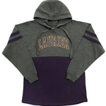 Final Sale Char/Purp Hooded Pom Pom