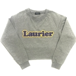 Final Sale Grey Crop Laurier Crew