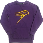 Final Sale Ladies purp Hawk Pocket Crew