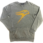 Final Sale Ladies Grey Hawk Pocket Crew