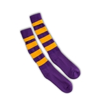 Purple/Gold Rugby Socks