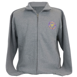 Grey Fullzip Mock Circle Design