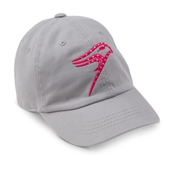 Ladies Grey Bling Hawk Cap